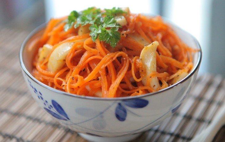 морковь по-корейски вред
