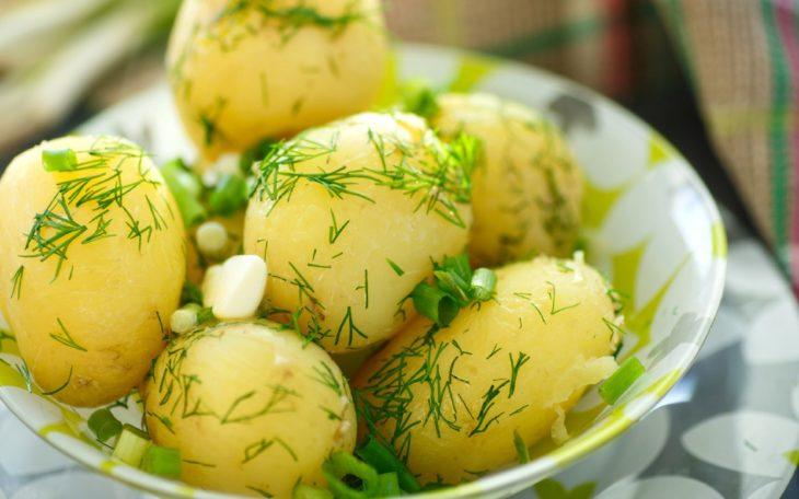 картофель вареный калорийность на 100 грамм