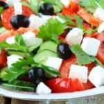 Польза, вред, калорийность греческого салата на 100 грамм