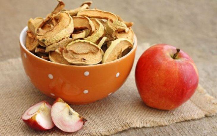 сушеные яблоки калорийность на 100 грамм