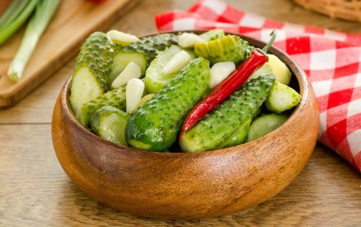 огурцы маринованные калорийность на 100 грамм