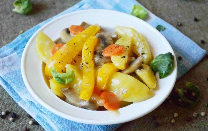 картофель тушеный калорийность на 100 грамм