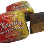 Польза, вред, калорийность конфет Халва в шоколаде на 100 грамм, в 1 шт.