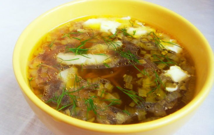 калорийность грибного супа с картошкой на воде