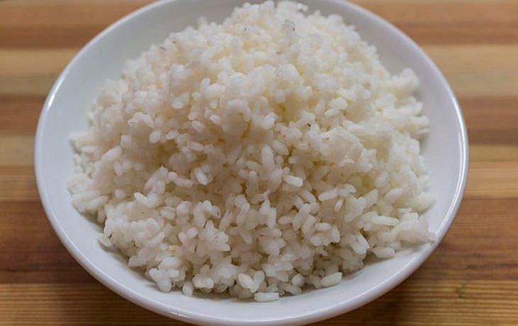недоваренный рис польза
