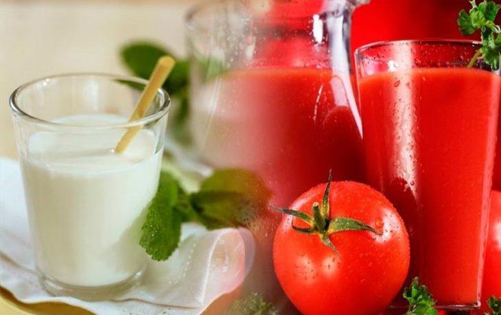 томатный сок с кефиром польза и вред